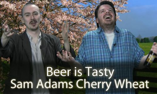 Samuel Adams Cherry Wheat Review & Dick's Beer!