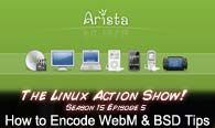 How to Encode WebM & BSD Tips | LAS | s15e05