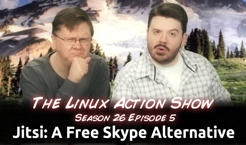Jitsi: A Free Skype Alternative | The Linux Action Show! | Jupiter